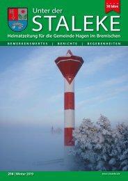 Unter der Staleke 216, Winter 2019