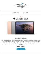 NEU: MacBook Air, iPad Pro & Mac mini!