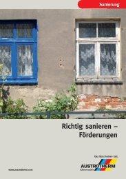 Richtig sanieren – Förderungen - Austrotherm Dämmstoffe
