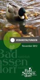noVeMber 2012 - Tagungs- und Kongresszentrum Bad Sassendorf