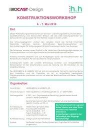 KONSTRUKTIONSWORKSHOP 6. - 7. Mai 2010 - Heidenreich ...