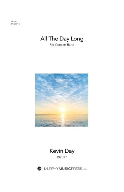 ALL THE DAY LONG - SCORE (11X17)_new
