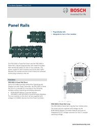Panel Rails - Bosch Security Systems
