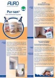 Pur-san3 Das Schimmel-Problem: Ursachen und Abhilfe - Auro