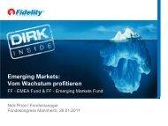 Emerging Markets: Vom Wachstum profitieren - Fidelity Investments