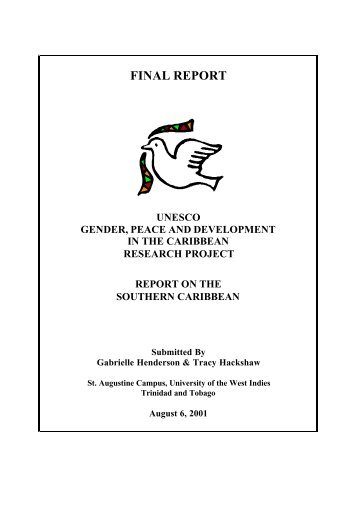 final narrative report research and