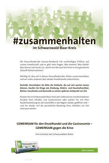 #zusammenhalten Schwarzwald Baar