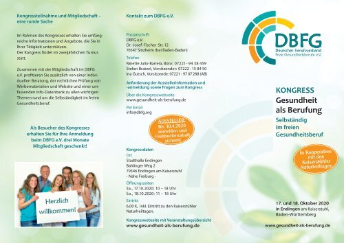 DBFG Kongress Flyer 10/2020
