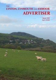 Lynton, Lynmouth and Exmoor Advertiser, April 2020