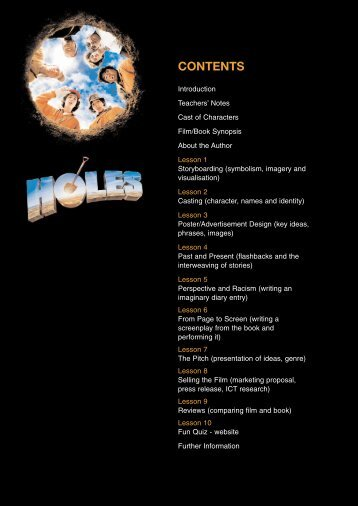 Holes study guide - Film Education