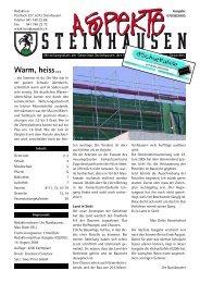 Ausgabe 07-08/2005 - Aspekte Steinhausen