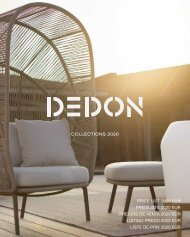 Dedon Preisliste 2020