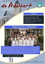 Erstkommunion in Allhartsberg - Marktgemeinde Allhartsberg
