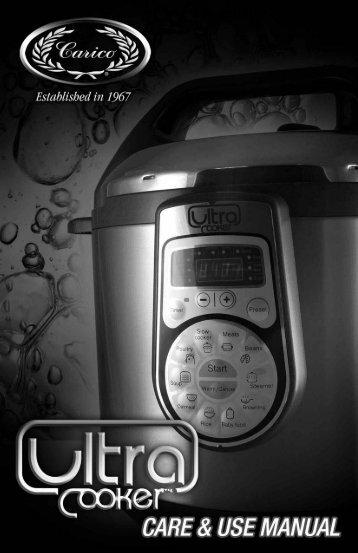 """recetas """"ultra cooker"""" - Carico"""
