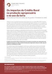 Os impactos do Crédito Rural na produção agropecuária e no uso da terra