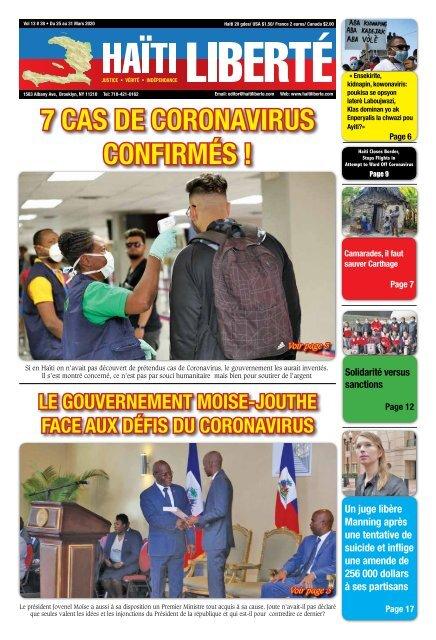 Haiti Liberte 25 Mars 2020