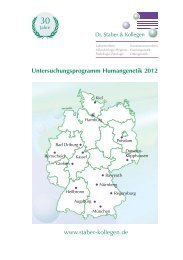 Untersuchungsprogramm Humangenetik 2012 - Dr. Staber