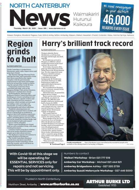 North Canterbury News: March 26, 2020