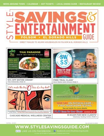 Style Savings and Entertainment Guide April 2020