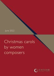 Christmas carols by women composers