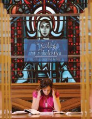 This annual giving section recognizes - The College of St. Scholastica