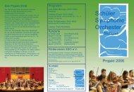 Seit 1990 ist das Schüler-Symphonie-Orchester Stuttgart