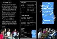 Solisten - Schüler-Symphonie-Orchester Stuttgart