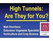 Matt Kleinhenz Extension Vegetable Specialist Horticulture and ...