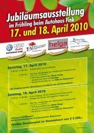 17. und 18. April 2010 - Autohaus Fink GmbH