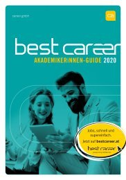 best career AkademikerInnen-Guide 2020