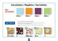 Servietten / Napkins / Serviettes