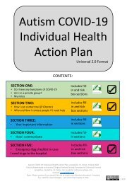 2.0 Universal Autism COVID-19 Individual Health Action Plan
