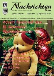 Nachrichtenblatt Dez. 2007 - Werbegemeinschaft Geismar ...