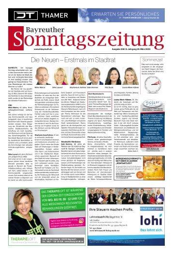 2020-03-29 Bayreuther Sonntagszeitung