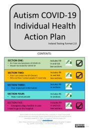 Ireland Testing Format 2.0 Autism COVID-19 Individual Health Action Plan