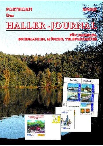 HALLER-Journal 2007 Ausgabe 2 (1.51 MB) - Briefmarken HALLER