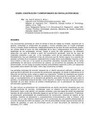 Diseno, Construccion y Comportamiento de Pantallas Profundas. Design, Construction and Behavior of Deep Cutoff Walls, 2006