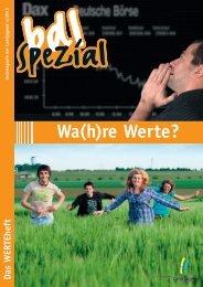 Wa(h)re Werte? - Bund der Deutschen Landjugend