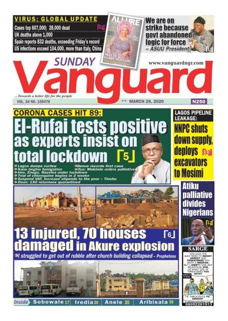 29032020 - El Rufai tests positive as experts insist on Total lockdown