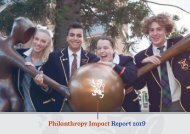 Scotch College Philanthropy Impact Report 2019