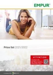Pricelist 2019/2020