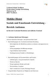 Mobiler Dienst Soziale und Emotionale Entwicklung - Vechtetalschule