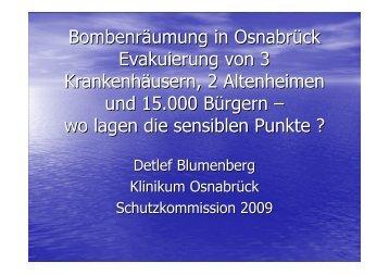 Vortrag von Herrn Priv.-Dozent Dr. med. Detlef - Schutzkommission