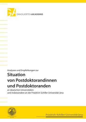 Situation von Postdoktorandinnen und Postdoktoranden