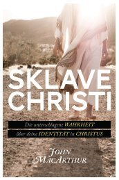 MacArthur: Sklave Christi