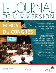 Le Journal de l'immersion - Volume 42, Numéro 1, Hiver 2020