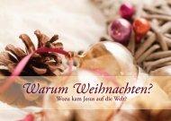 Warum Weihnachten? – Grußheft zu Weihnachten