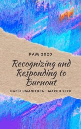 Recognizing and Responding to Burnout