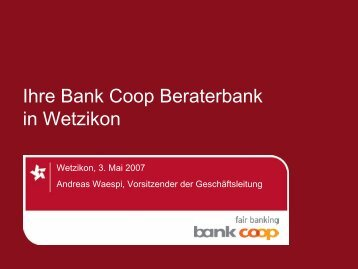 Folie 1 - Bank Coop