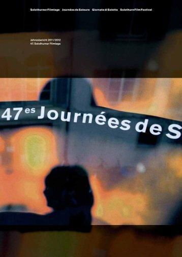 Download PDF Jahresbericht SGSF 2012 mit Anhang zum